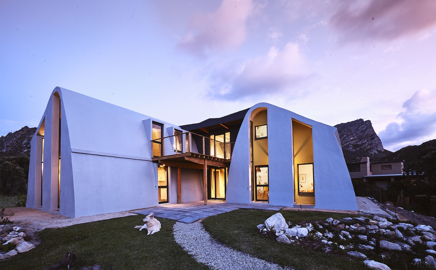 house mahika sunset, new building method cape town