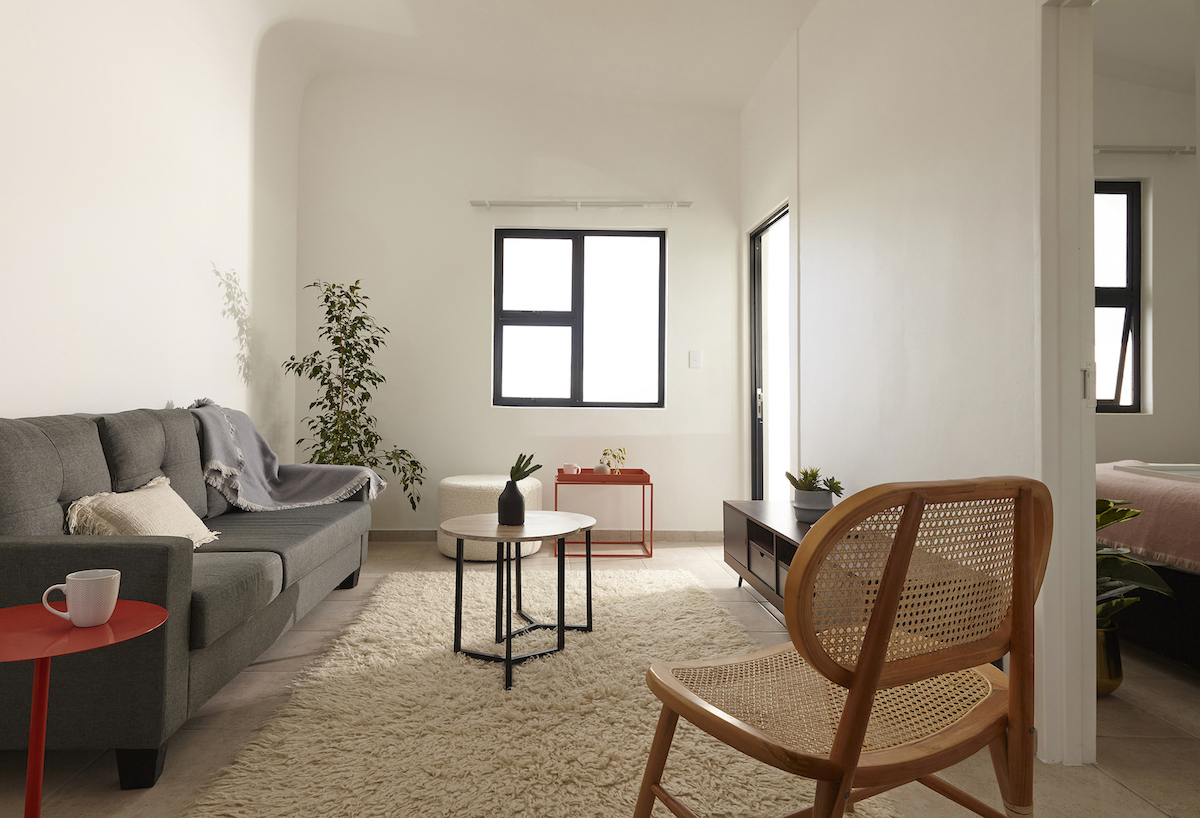 eHomes, single storey, living room, citra construction, sustainable construction cape town